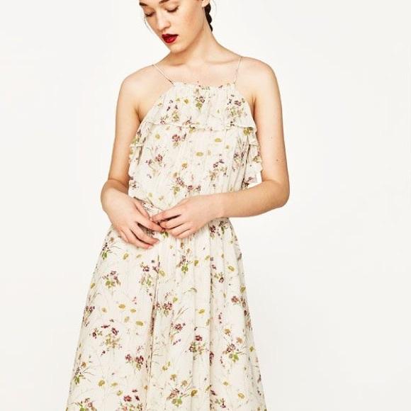 40e50d07b8d6 Zara Dresses | Off White Floral Dress | Poshmark